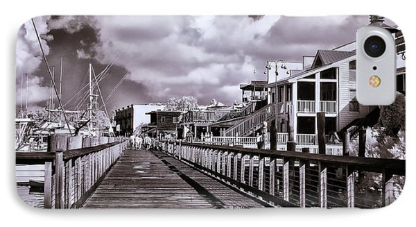 Front Street Boardwalk - Infrared IPhone Case by Bill Barber