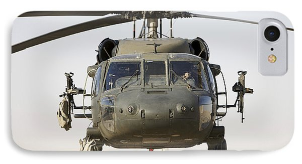 Front View Of A Uh-60l Black Hawk Phone Case by Terry Moore