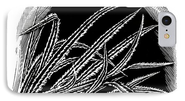 Frost On Blades Of Grass, Woodcut Phone Case by Gary Hincks