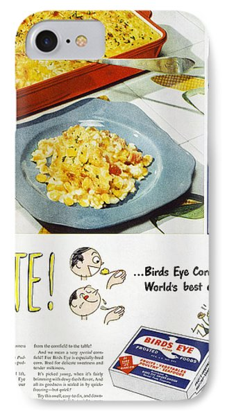 Frozen Food Ad, 1947 Phone Case by Granger