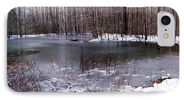 IPhone Case featuring the photograph Frozen Head Pond by Paul Mashburn
