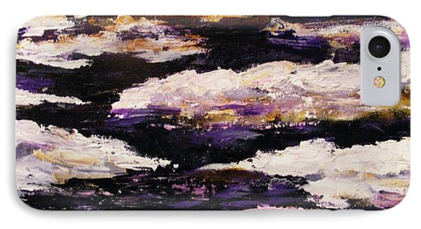 IPhone Case featuring the painting Frozen River by Karen  Ferrand Carroll