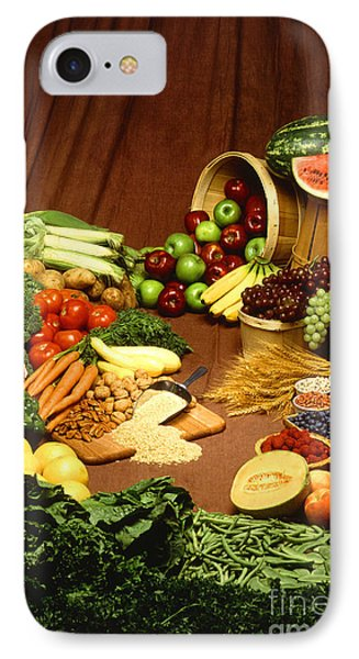 Fruit And Grain Food Group Phone Case by Photo Researchers