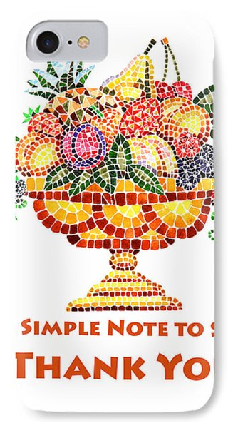 Fruit Mosaic Thank You Note IPhone Case