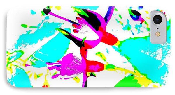 IPhone Case featuring the digital art Fuchsia by Barbara Moignard