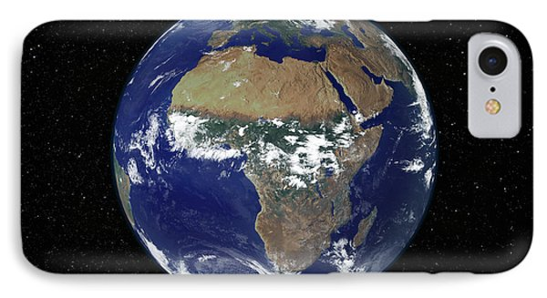 Full Earth Showing Africa And Europe Phone Case by Stocktrek Images