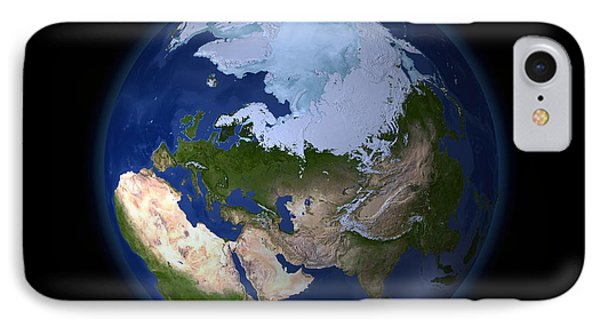 Full Earth Showing The Arctic Region Phone Case by Stocktrek Images