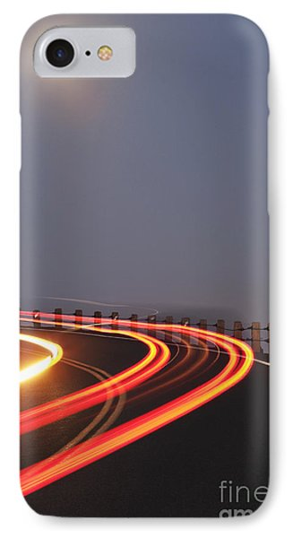 Full Moon Over A Curving Road Phone Case by Jetta Productions, Inc