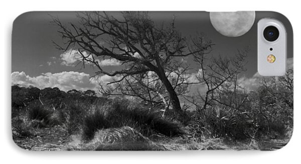 Full Moon Over Jekyll IPhone Case by Debra and Dave Vanderlaan