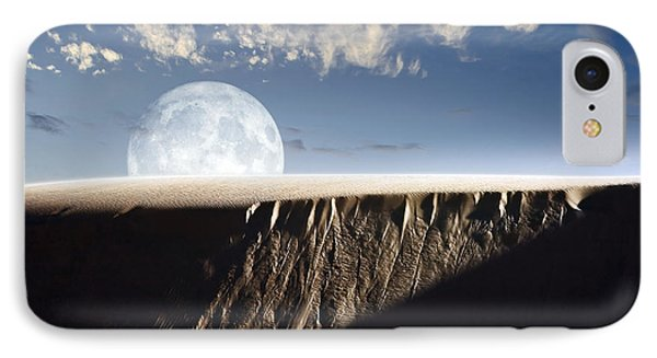 Full Moon Rising Above A Sand Dune IPhone Case by Roth Ritter