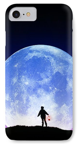 Full Moon Rising Phone Case by David Nunuk