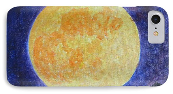IPhone Case featuring the painting Full Moon by Sonali Gangane