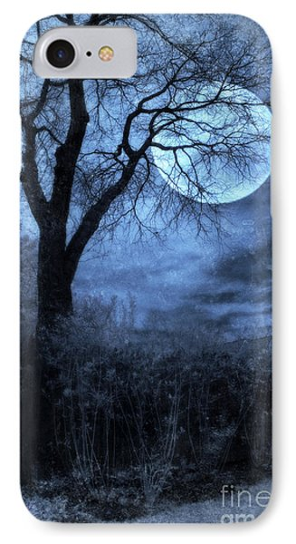 Full Moon Through Bare Trees Branches Phone Case by Jill Battaglia