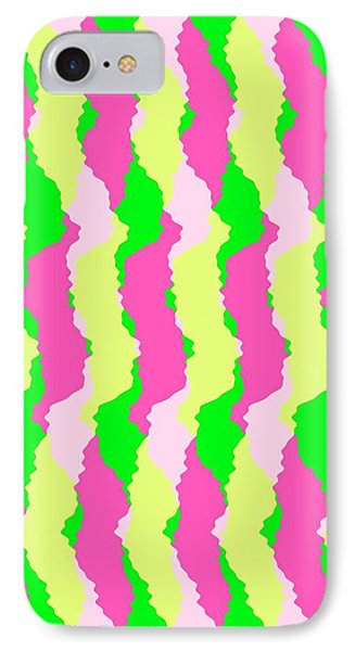 Funky Stripes IPhone Case by Louisa Knight