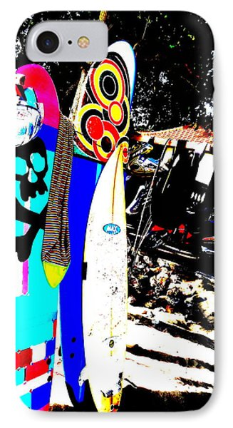 Funky Surf Boards In Seminyak IPhone Case by Funkpix Photo Hunter