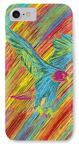 Furious Bold Bald Eagle Phone Case by Kenal Louis