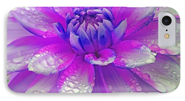 Fusia Flower IPhone Case by Tyra  OBryant