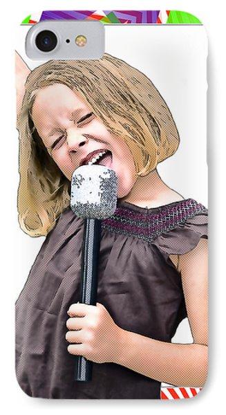 Future Star Sing It Girl Phone Case by Susan Leggett