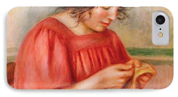 Gabrielle Darning IPhone Case by Pierre Auguste Renoir