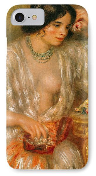 Gabrielle With Jewellery IPhone Case by Pierre Auguste Renoir
