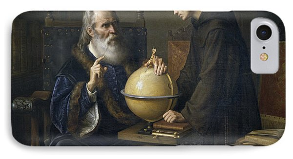 Galileo Galilei Demonstrating His New Astronomical Theories At The University Of Padua Phone Case by Felix Parra