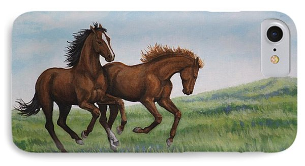 Galloping Horses IPhone Case by Penny Birch-Williams
