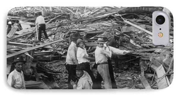 Galveston Disaster - C 1900 Phone Case by International  Images