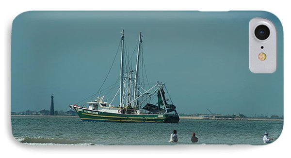 IPhone Case featuring the photograph Galveston Fishing by Cheryl Perin