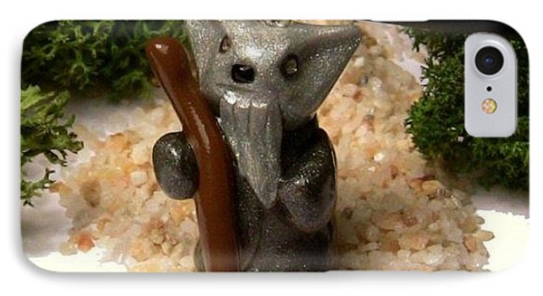 Gandalf Kitty Wizard Lord Of The Rings Parody Necklace Phone Case by Pet Serrano