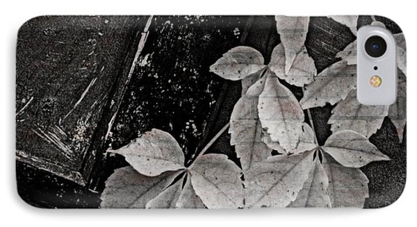Garage Door With Foliage IPhone Case by Chris Berry
