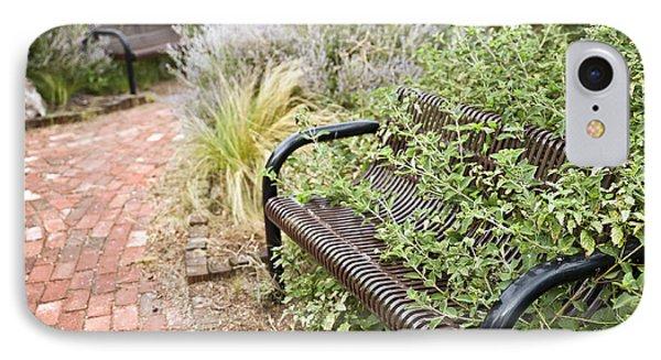 Garden Bench Phone Case by Melany Sarafis