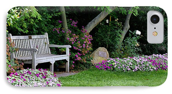 Garden Bench IPhone Case by Michelle Joseph-Long