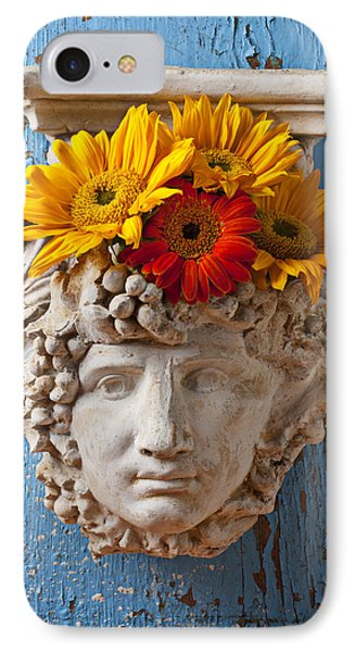 Garden Face IPhone Case by Garry Gay