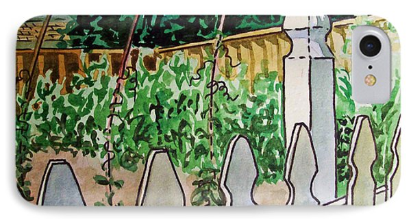 Garden Fence Sketchbook Project Down My Street Phone Case by Irina Sztukowski