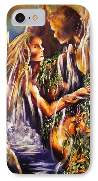 IPhone Case featuring the painting Garden Of Earthly Delights by Karen  Ferrand Carroll