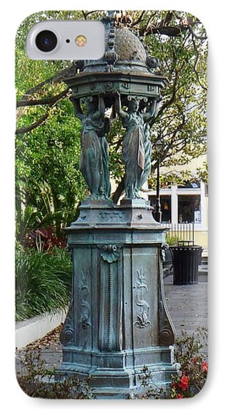 IPhone Case featuring the photograph Garden Statuary In The French Quarter by Alys Caviness-Gober