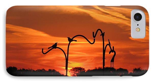IPhone Case featuring the photograph Garden Sunrise by Tina M Wenger