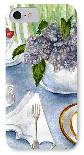 IPhone Case featuring the painting Garden Tea Party by Clara Sue Beym