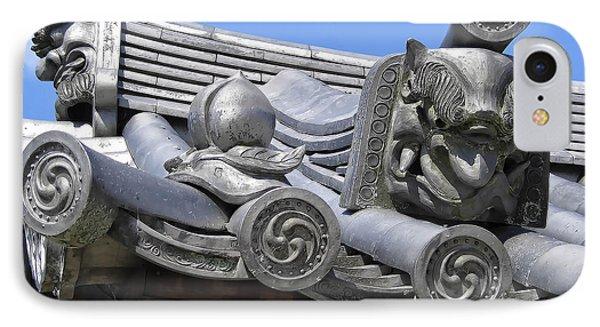 Gargoyles Of Horyu-ji Temple - Nara Japan Phone Case by Daniel Hagerman
