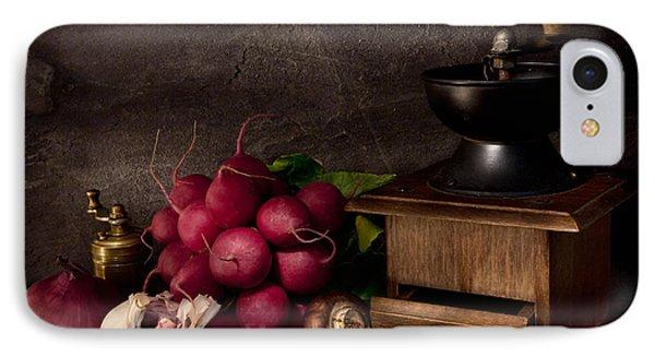 Garlic And Radishes Phone Case by Ann Garrett