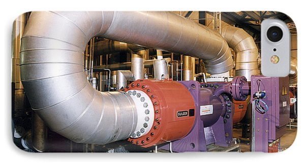 Gas Compressor At An Oil Refinery IPhone Case