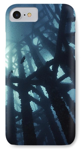 Gas Platform Support Tower Phone Case by Peter Scoones
