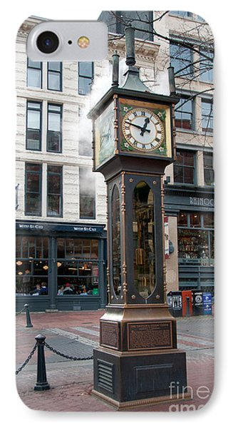 IPhone Case featuring the digital art Gastown Steam Clock by Carol Ailles