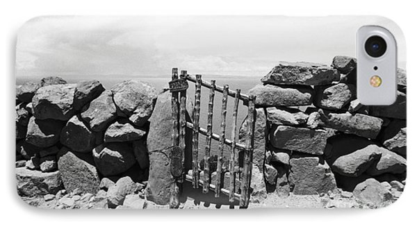 Gate Overlooking Lake Titicaca Phone Case by Darcy Michaelchuk