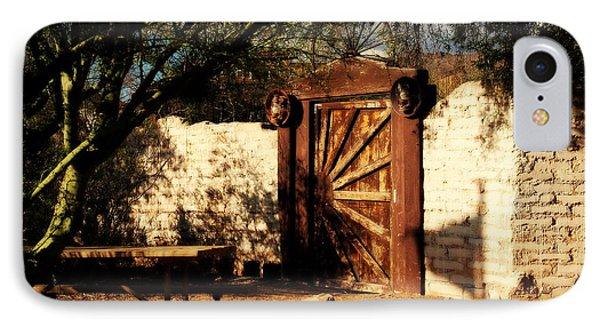 Gate To Cowboy Heaven In Old Tuscon Az Phone Case by Susanne Van Hulst