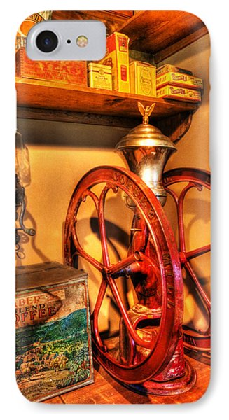 General Store Coffee Mill - Nostalgia - Vintage IPhone Case by Lee Dos Santos