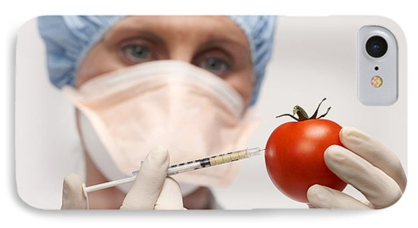 Genetically Engineered Tomato Phone Case by Mark Sykes