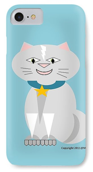 Geo Smiley Cat Phone Case by Maria Urso