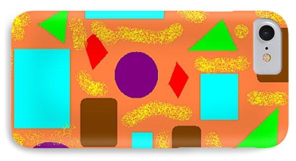 Geometric Abstract- Orange Phone Case by Jeannie Atwater Jordan Allen