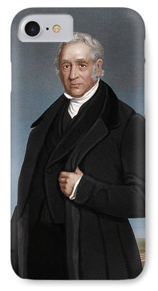 George Stephenson, British Engineer Phone Case by Maria Platt-evans